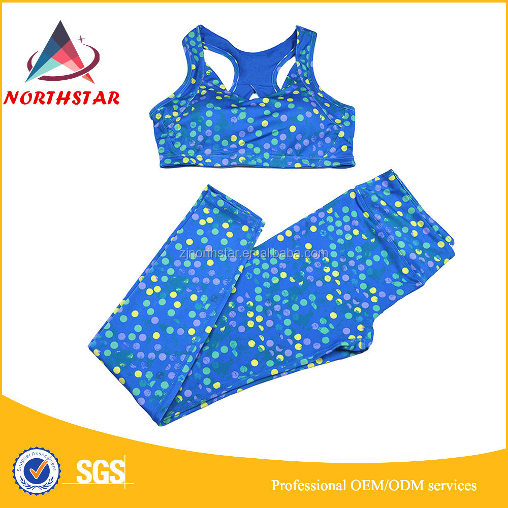 Custom women sports bra printed leggings,fitness sports bra yoga wear