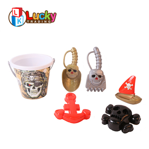 cheap items toy summer outdoor 6 pcs bulk pirate sand mini beach bucket with spade