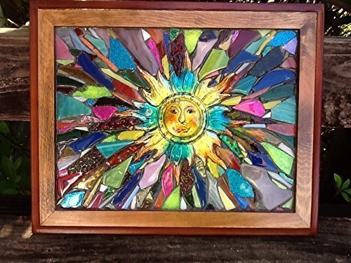 Sun Stained Glass Window Art Suncatcher