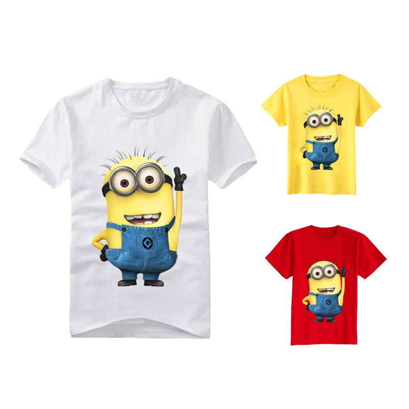 d039d3c1 Cartoon anime figure despicable me minions clothes minion costume children's  clothing children t shirts Kid's wear