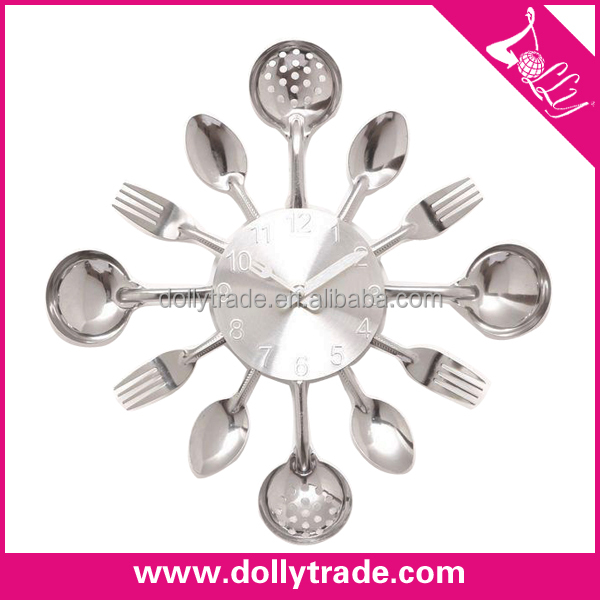 color fork spoon wall clockSource quality color fork spoon wall