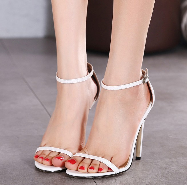 X89845A fashion Summer china plus sizes lady shoes ladies high heel sandals women 2017