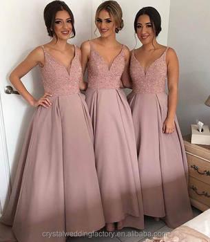 Casamento da dama de honra vestidos moda mulheres sexy v decote casamento da dama de honra vestidos moda mulheres sexy v decote puffy longo blush rosa junglespirit Images