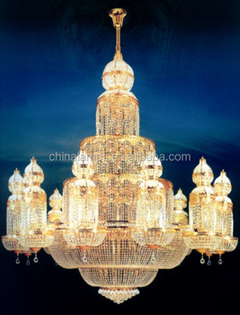 Luxury Large Modern Crystal Large Hotel Chandelier For