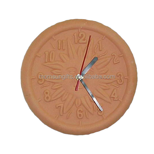 Decorative Outdoor Terracotta Clock Wall Garden With Thermometer Product On Alibaba