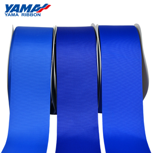 Yama stocked large sizes polyester blue red grosgrain decoration ribbon