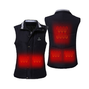 Far Infrared Heat USB Heating Pad Vest Navy Men's Heated Vest for Motorcycle Outdoor Sports