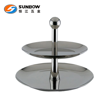 Customized stainless steel two tier fruit plate stand  sc 1 st  Alibaba & Customized Stainless Steel Two Tier Fruit Plate Stand - Buy Fruit ...