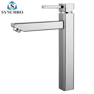 SKL-1522 High neck deck mounted single lever copper chrome plating extended wash basin faucet