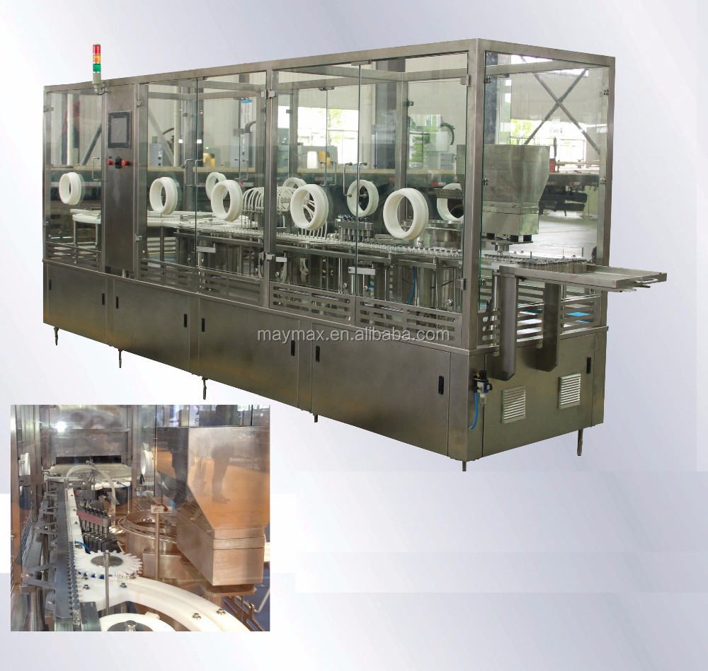 automatic vial filling rubber stoppering machine