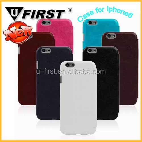 for Iphone 6 book style leather mobile phone case,bumper cases for mobile phone