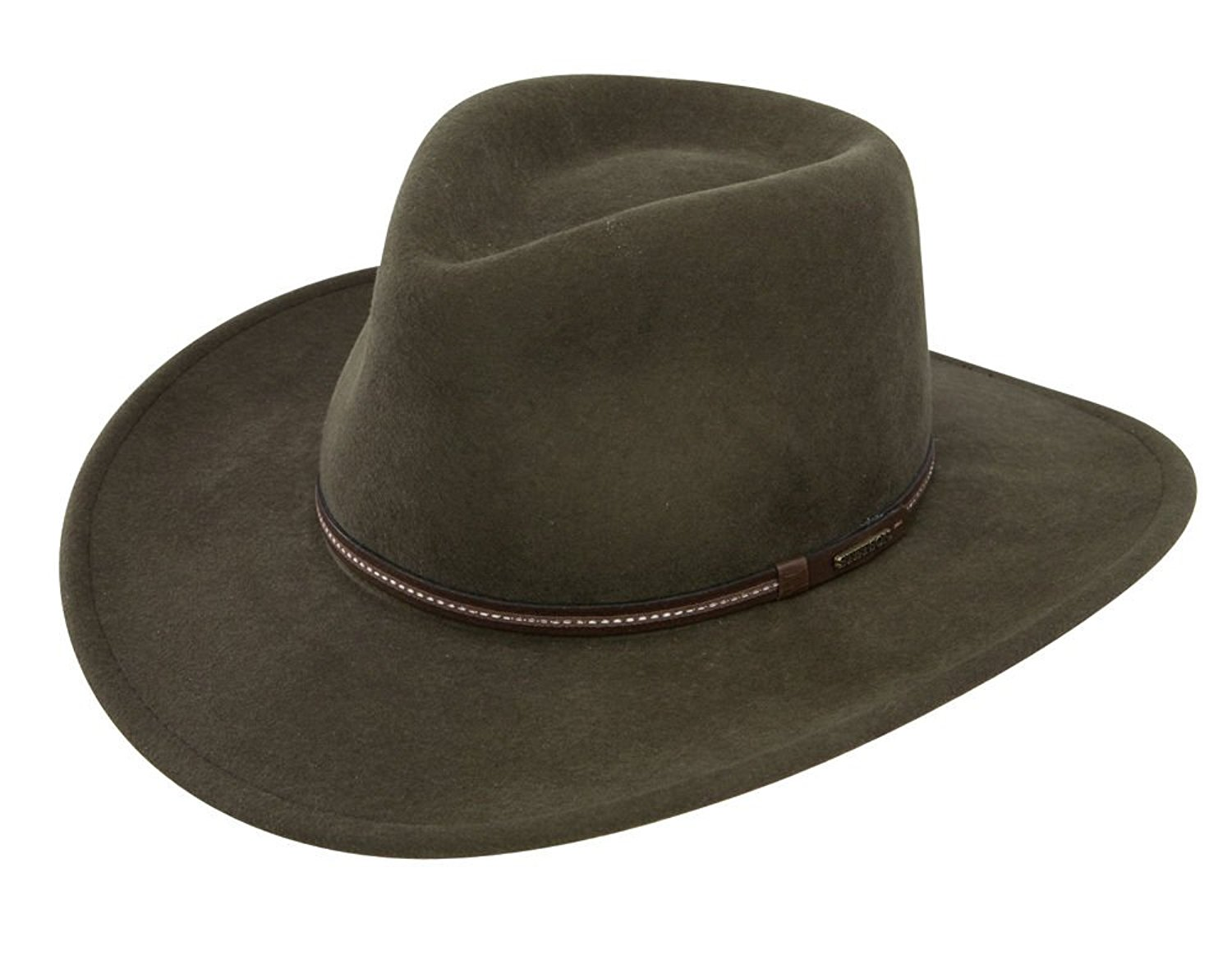 Get Quotations · Stetson Gallatin Crushable Wool Felt Hat - Sage - 2XL bd305d75cdf8