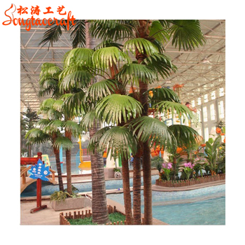 Factory Direct Areca Palm Trees Plastic Products Branches Resin Miniature Tree