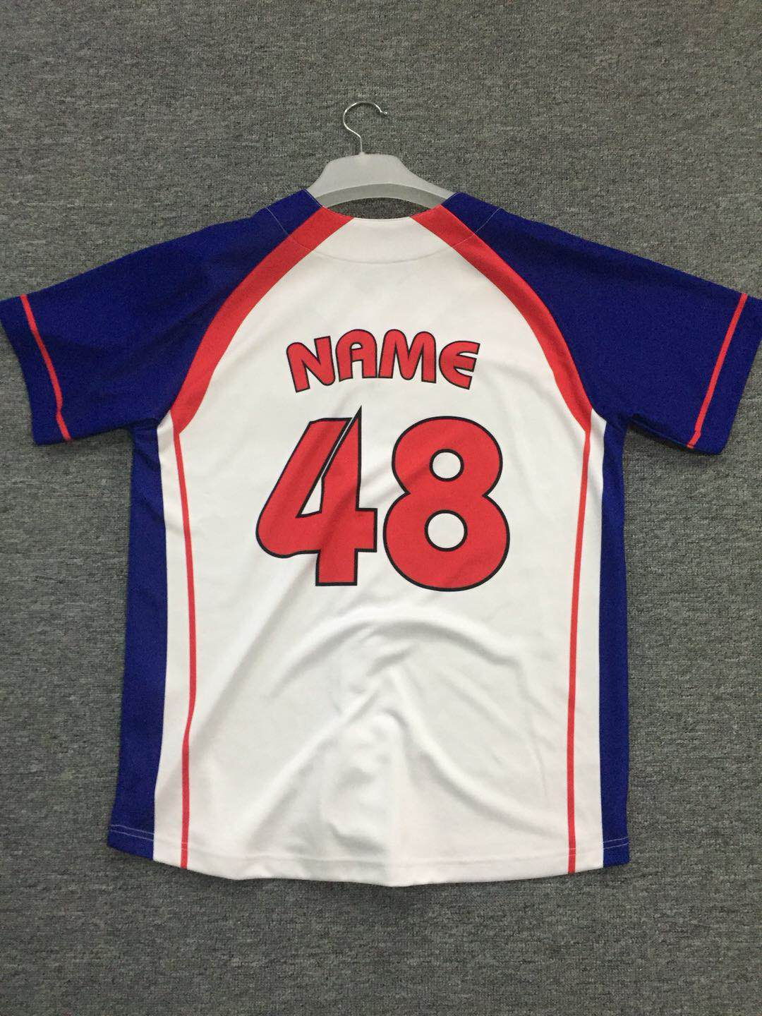 baseball jersey custom maded interlock sublimation baseball jersey