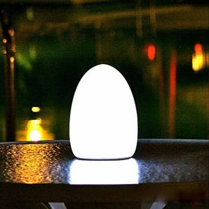 glowing decorative table lamp LED egg shape light for bar coffee night club