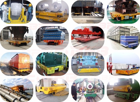 Heavy load galvanized steel coil transfer railway steel cart with V- frame