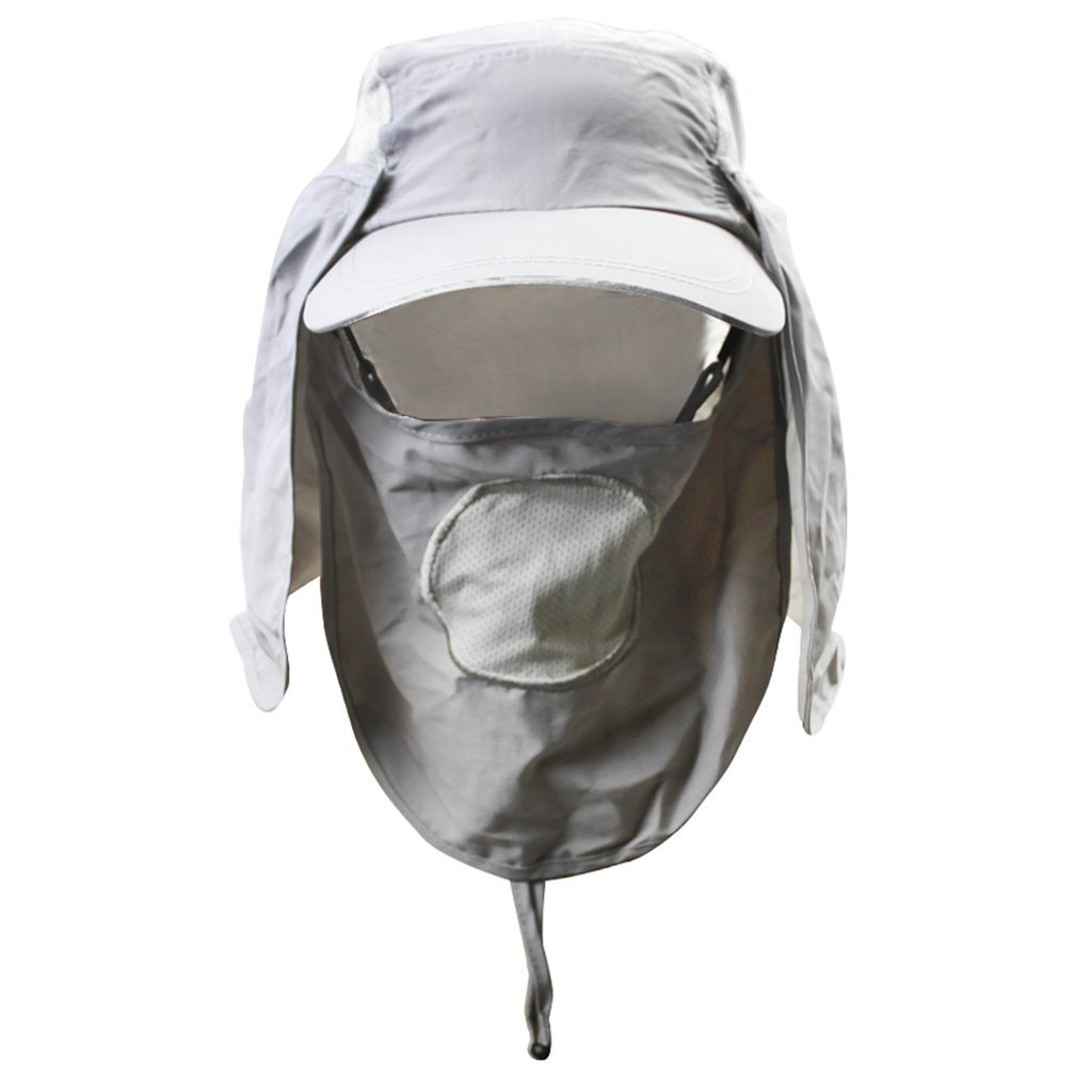 Sun Caps Flap Hats Summer Sun Protection Fishing Cap 360°Solar Protection UPF 50+ Removable Neck Cape & Face Mask Flap Cover Caps for Hiking Fishing Hunting Outdoor Research Gardening