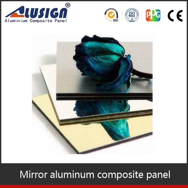 High quality corrugated aluminum roofing acp panels