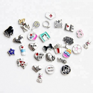 Custom charm metal small cute charms floating locket charm