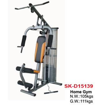 SUNSKI Fitness single station home gym with 100lb weight plastic stack