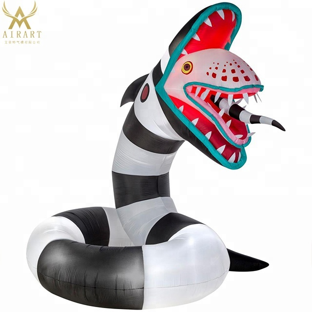 Gemmy 2018 Beetlejuice Sandworm Airblown Inflatable Balloon Buy Halloween Evild Inflatable Snake Animal Mascot Giant Black Snake Balloon Halloween Party Ghost Monster Balloon Giant Halloween Beetlejuice Inflatable Model For Advertising Decoration