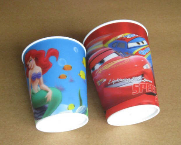 2015 3D Customized Lenticular Plastic Cup With Lid And Straw