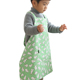 Newly design green rabbit pink daisy pattern lovely art line apron for adult and kids