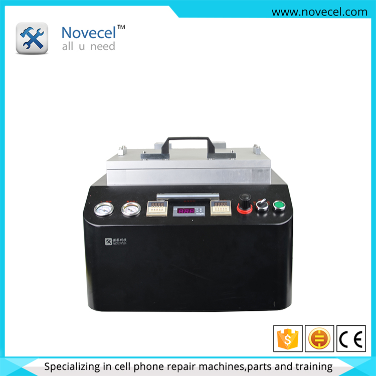 2016 NOVECEL 2 in 1 Edge Glass OCA vacuum laminating and bubble removing machine Laminating Debubble One Machine lcd Laminator