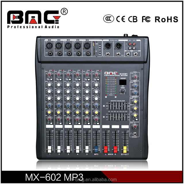 BMG Factory Supply Multifunctional Studio Mixers with MP3+ SD Recording