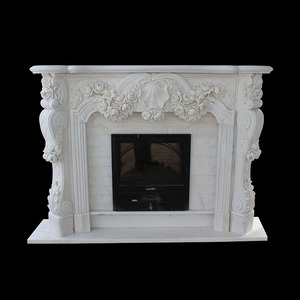 New design design indoor used surround marble mantel fireplace