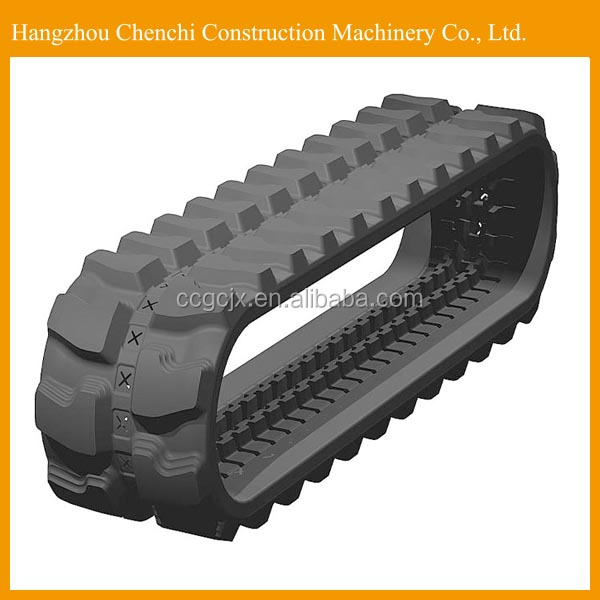 SK007 excavator undercarriage parts rubber track undercarriage in stock