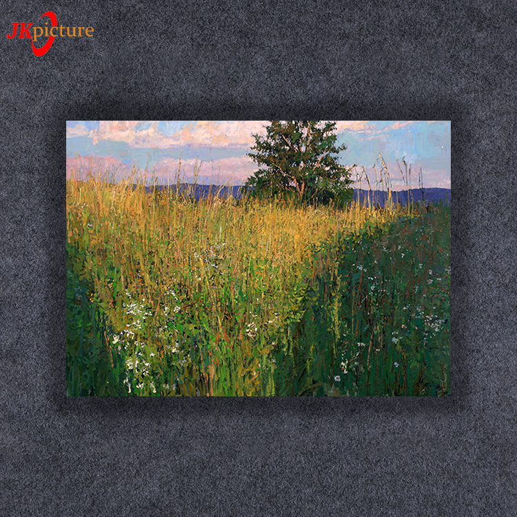 Hot selling Handmade beautiful handmade natural scenery art oil painting on canvas