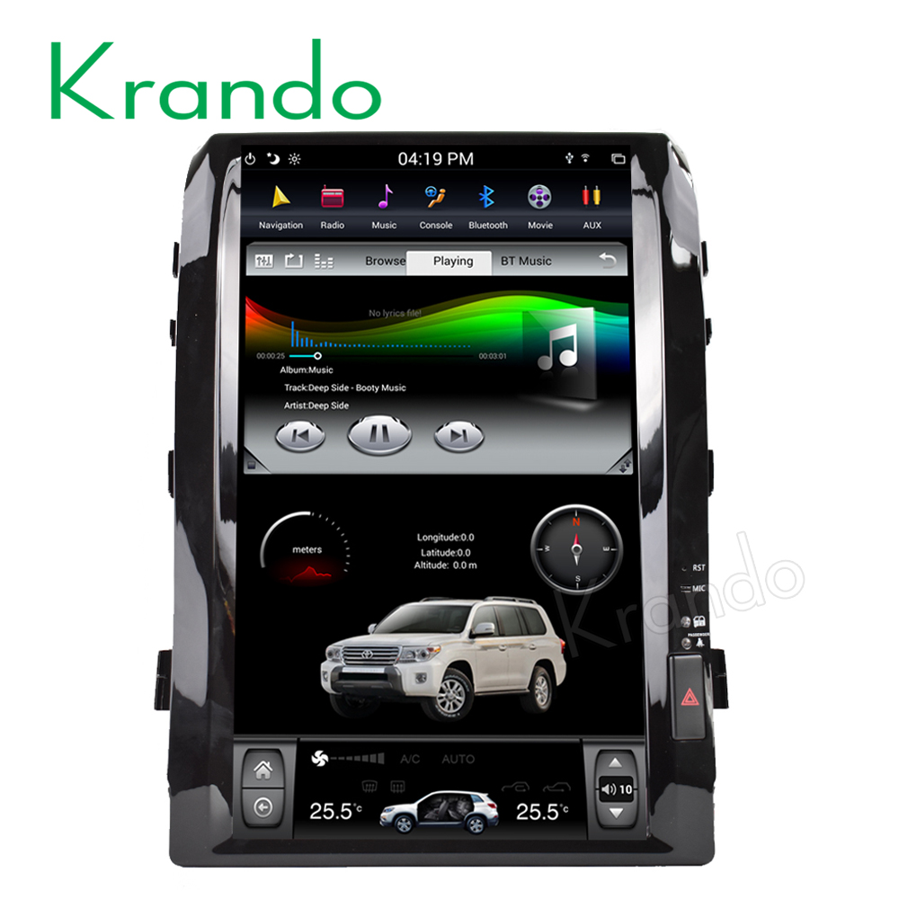 "Krando Android 6.0 16 ""Verticale screen auto radio multimedia speler voor toyota land cruiser 200 2008-2015 cd speler wifi KD-TL168L"