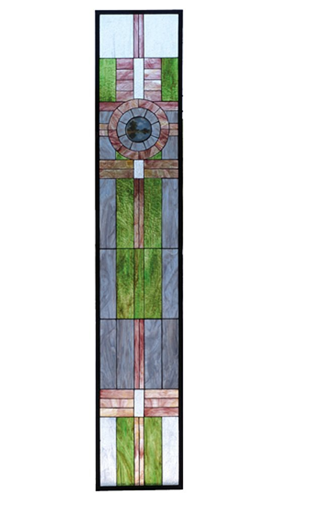 "Meyda Hand Crafted Designed Art Decorative Panel 15.25""W X 83.75""H Maxfield Parrish Custom Stained Glass Window"