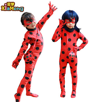 children tv miraculous ladybug cosplay clothes party outfits halloween costumes for kids