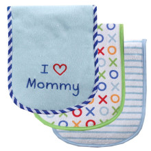Boys Girls Bibs Toddler Absorb Feeding Drool Bibs 100% Cotton Burp Cloths for Baby