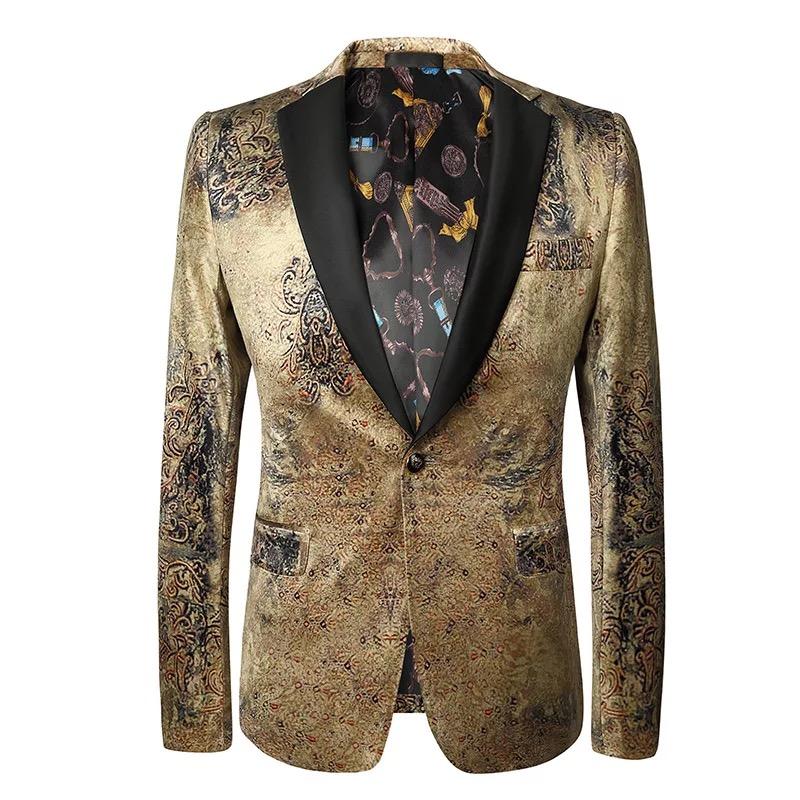 Gold color men suit фото