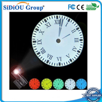 wall mounted led projector clock display led clock