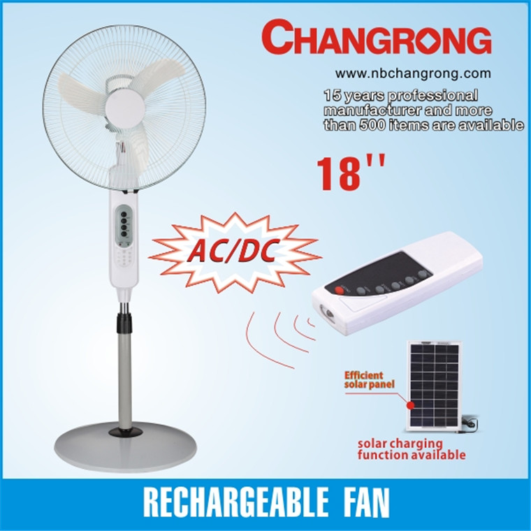 Multifunctional solar rechargeable oscillating fan with high quality