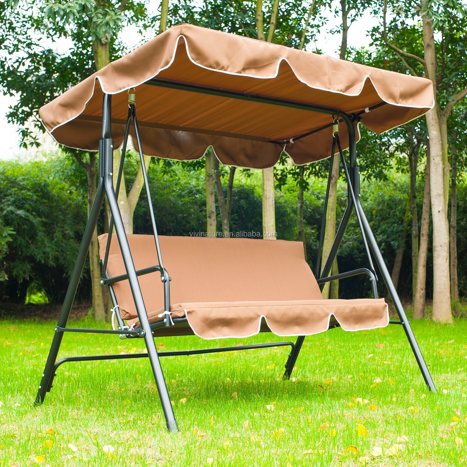 3 Person Outdoor Patio Porch Canopy Swing