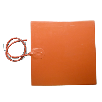 300x300mm 12v 300w Silicone Blanket Heater Silicone Rubber Heater For Surface Heating with Adhesive and 100k Thermistor
