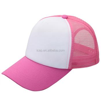Wholesale mesh baseball cap trucker hat blank mesh baseball hat for sample  free a3d6da2ab05b