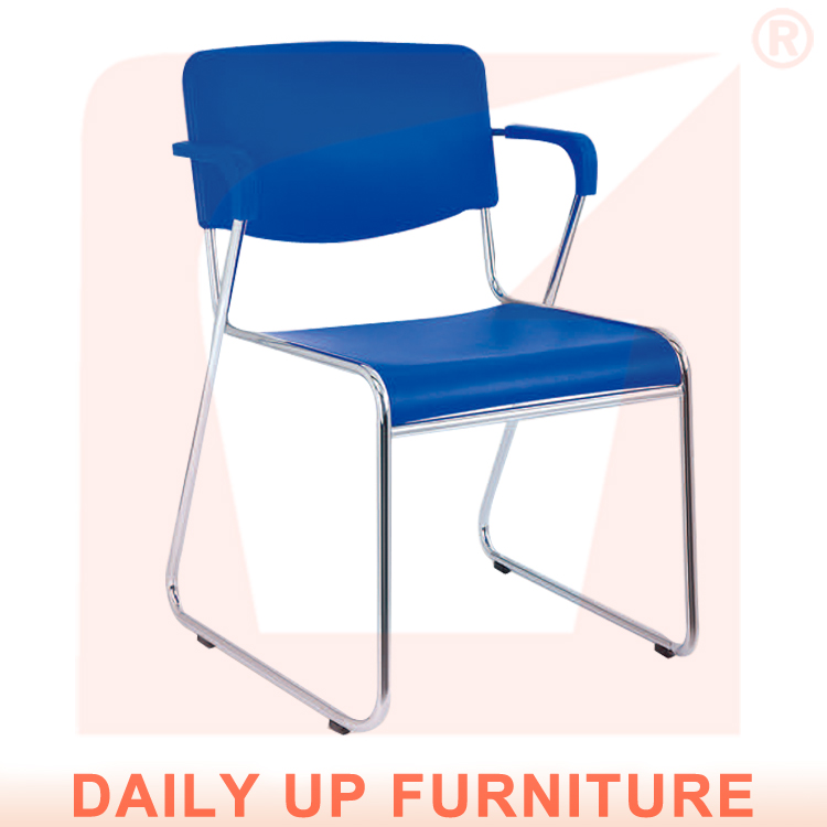 Cheap Light Handy Clerk Chair Hot for Office Staff Stackable School Lecture Hall Chair Blue Bow Shape Frame World Best Selling