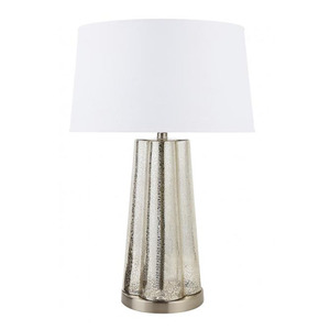 Bangladesh Luxury Decorative Fluorescent Mercury Polished Nickel Glass LED Table Lamp With Base Switch Socket For Hotel Home