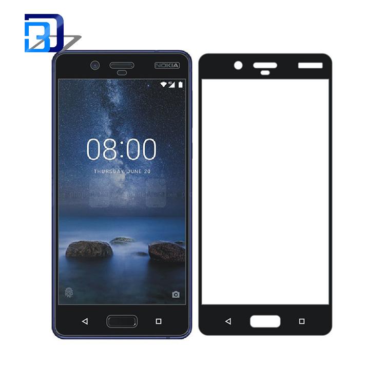 anti-scratch explosion proof 2.5D round edge tempered glass screen protector for Nokia 8