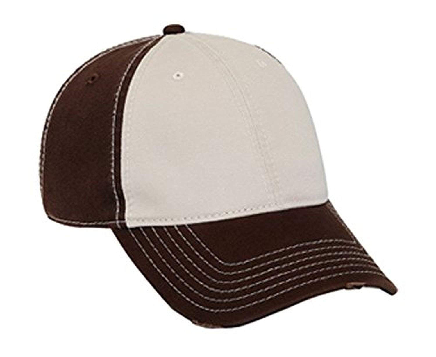 Hats & Caps Shop Superior Garment Washed Cn Twill Distressed Visor Low Profile Pro Style Caps - By TheTargetBuys