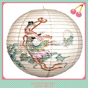 Chinese Art Painting Decoration Craft Paper Lantern Lampion.