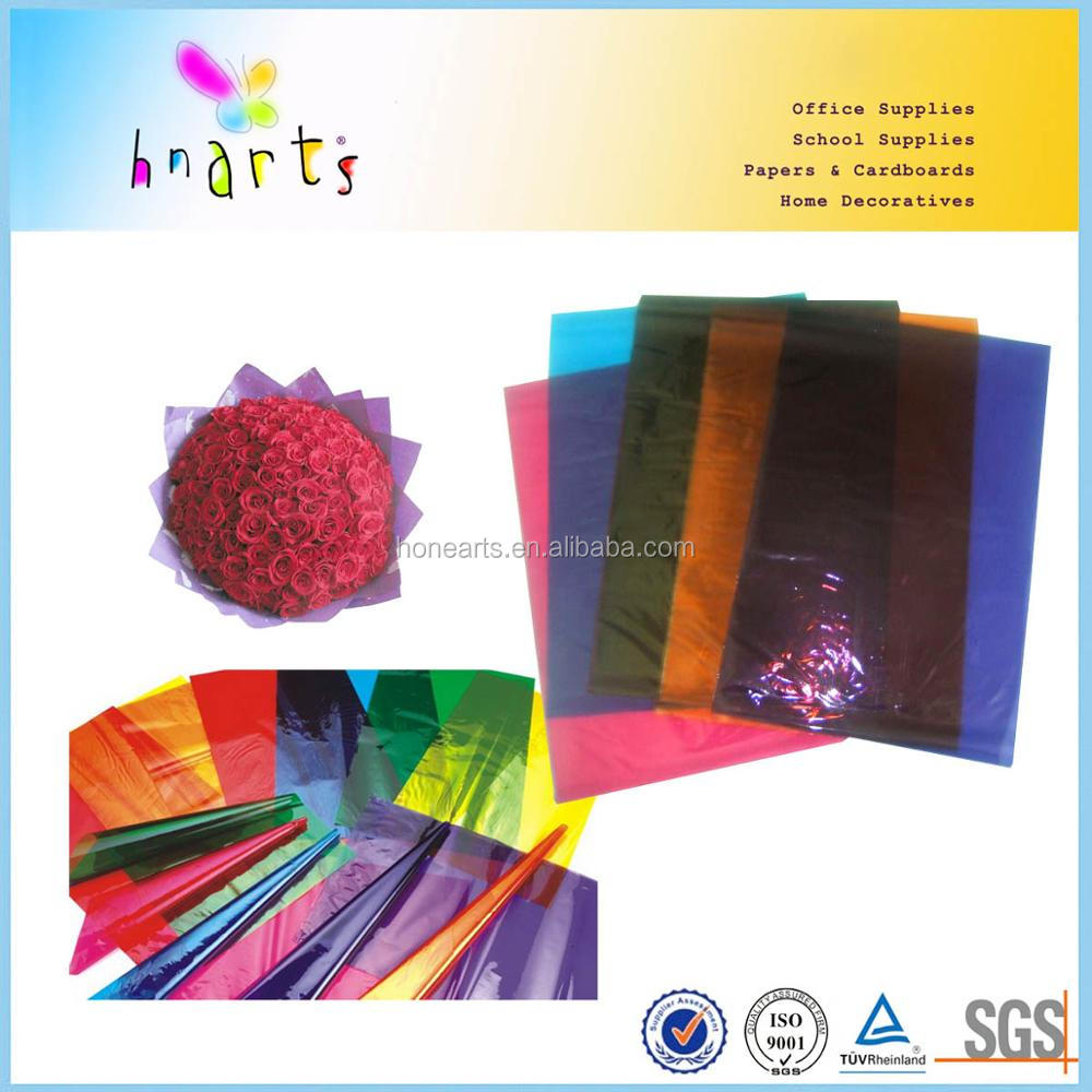wholesale price of colored cellophane paper for gifts wrapping
