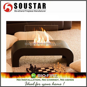 2016 made in china coffee table bioethanol fireplace for home decoration