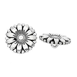 Maxry(TM)2016 New 50PCs Silver Tone Sunflower Carved Sewing Metal Buttons Crafts Sewing And Scrapbooking 18mm Sewing Accessories